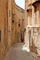Maltese Islands, Malta, Mdina, Narrow Street