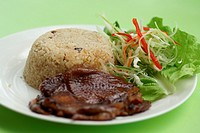 Black Papper Chicken Rice