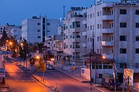 Jordan, Irbid, city overview, dawn