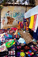 Textile Market with Graffiti
