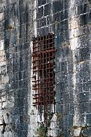 Rusted prison grid
