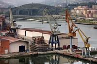 Bilbao Naval Centerl Shipyard, Erandio, Ria de Bilbao, Biscay, Bilbao, Basque Country, Euskadi, Euskalherria, Spain.