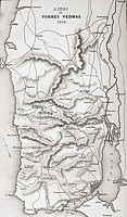 Map of the Lines of Torres Vedras, Portugal, 1810  From Life and Campaigns of Arthur Duke of Wellington, published 1841