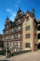 D-Heidelberg, Neckar, Rhine-Neckar area, nature reserve Neckartal-Odenwald, Bergstrasse, Odenwald, Baden-Wuerttemberg, Heidelberg Castle, castle ruin,...