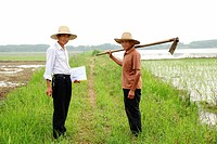 farmers working on land