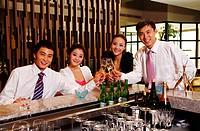 Asian young people enjoying fashion party