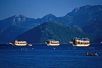Three Gulet boats, Marmaris, Turkey