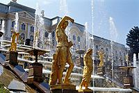 Great Cascade, Grand Palace, Peterhof, St. Petersburg, Russia