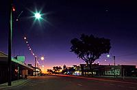 Mainstreet Elderslie Street in the evening light, Winton, Maltilda Highway, Queensland, Australia
