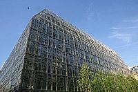 Office building with steel facade, Paris, France, Europe
