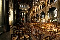 Seating inside the Saint Augustin church, 8. Arrondissement, Paris, France, Europe