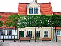 Old danish houses Odense Denmark