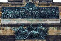The Niederwalddenkmal near Ruedesheim, Mittelrhein, Hesse, Germany, Europe