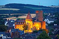 Genovevaburg castle, built in the 13 century, Mayen, Eifel, Rhineland_Palatinate, Germany, Europe