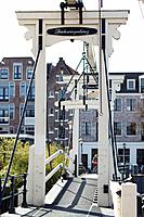 Small traditional bridge in the city of Amsterdam, Netherlands