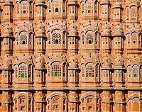 Facade of the Palace of the Wind in Jaipur, India