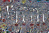 The East Side Gallery along Muehlenstrasse, the longest preserved piece of Berlin Wall, with 1.3 kilometres length the longest open air gallery of the...