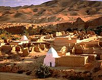 Village of Tamerza in Tunisia