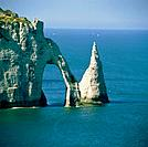 Rock formation in the Normandy, France