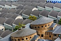 Roofs in the Technical college in Gijón  Asturias  Spain