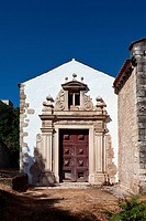 Baroque chapel and portal annexed to the Gothic Santa Cruz Church in the city of Santar&#233;m, Portugal