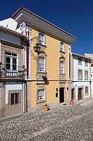 The Magessi House, also known as Yellow House, a small hotel in Castelo de Vide  Portalegre District, Alto Alentejo, Portugal