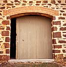 Wine cellar with roller door, Barossa Valley, South Australia