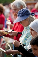 Dearborn, Michigan - An interfaith ´Remembrance and Unity Vigil´ at The Henry Ford museum commemorated the tenth anniversary of the September 11 attac...