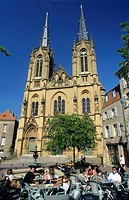Ste Segolene church and place Jeanne d´Arc, Metz, Moselle, Lorraine region, France