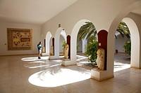 Africa, Tunisia, Ancient Thysdrus, El Djem Museum, Roman Mosaic, Sculptures, Sightseer