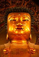 Detail of Buddha Statue in Jade Buddha Temple