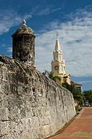 The Clock tower XIX Century , Cartagena de Indias, Bolivar Department,, Colombia, South America