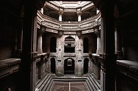 Adalaj step well or vav built in 1499 AD by Queen Radhabai of Ahmedabad , Gujarat , India