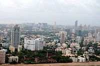 aerial view of shivaji park and prabhadevi , Bombay Mumbai , Maharashtra , India