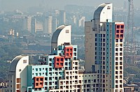 Highrise apartments , Worli , Bombay , Mumbai , Maharashtra , India