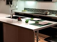 Modern style trendy design black and white kitchen