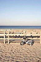 children´s bicycle on beach