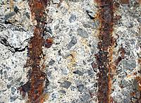 Rusty iron and stone background