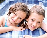 Boy and Girl in Hot Tub