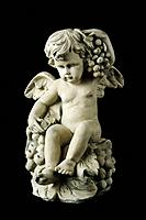Cherub on Black Background