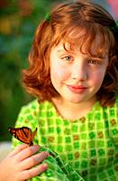 Redheaded Girl with Butterfly