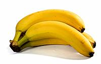 Three yellow bananas