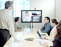 Businesspeople Videoconferencing