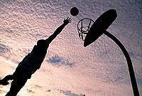 Basketball Player Shooting Basket
