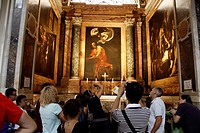 Caravaggio´s paintings at San Luigi dei Francesi church rome