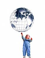 Toddler Reaching for Globe