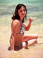 woman enjoying the sun on vacation