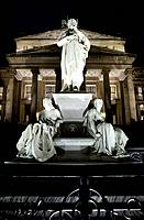 Friedrich Schiller Statue and Konzerthaus _ Berlin