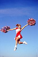 Airborne cheerleader