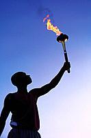 Torchbearer Holding Torch